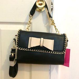 Betsey Johnson tough love bow satchel bag